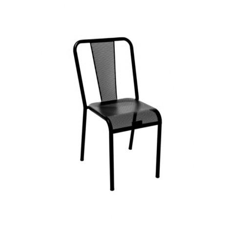 Chaise T37 perforée de Tolix acier laqué, 29 coloris