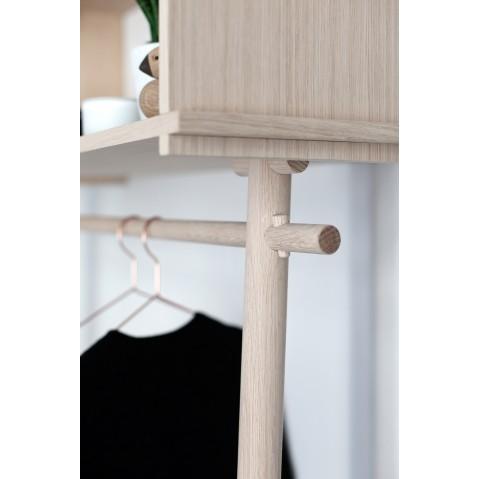 porte manteau tag re mural tojbox de woud 2 tailles 2 coloris. Black Bedroom Furniture Sets. Home Design Ideas