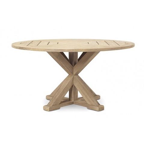 Table ronde CRONOS de Ethimo, Teck décapé