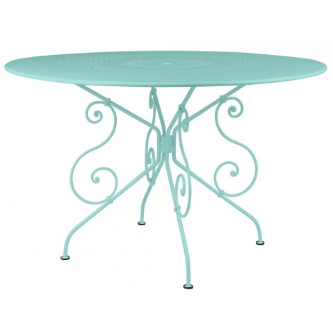 Table 1900 de Fermob D. 117 Bleu lagune