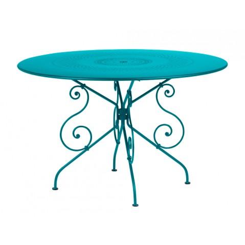 Table 1900 de Fermob D.117 bleu turquoise