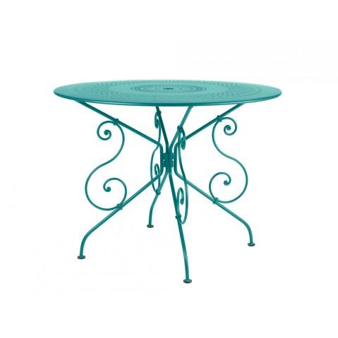 Table 1900 de Fermob D.96, Bleu Turquoise