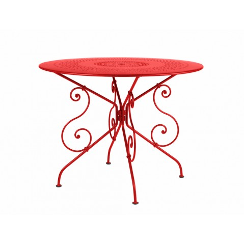 Table 1900 de Fermob D.96 coquelicot