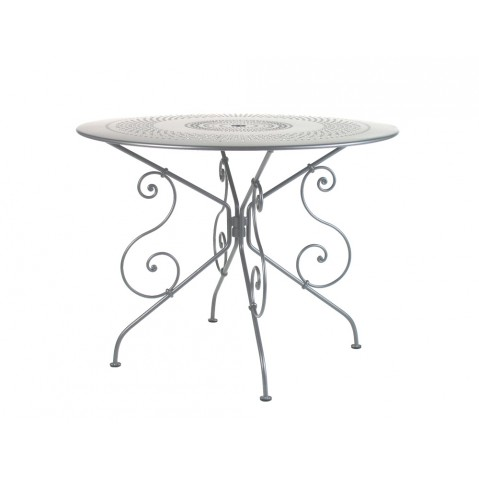 Table 1900 de Fermob D.96 gris métal