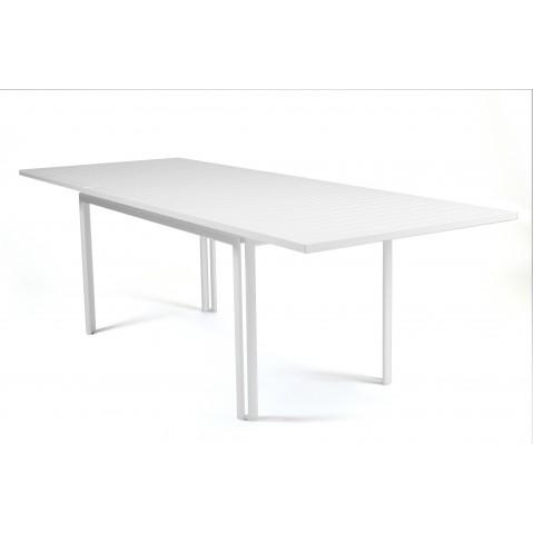 Table à allonge COSTA de Fermob blanc coton