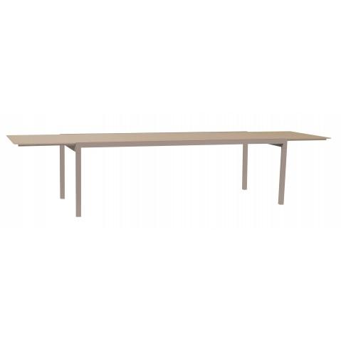 Table à allonge KWADRA de Sifas, moka, 240 x 100
