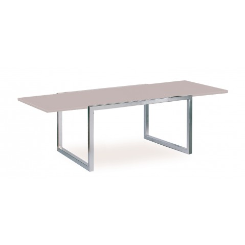 Table à allonge NINIX 270 en verre EP de Royal Botania, 2 coloris