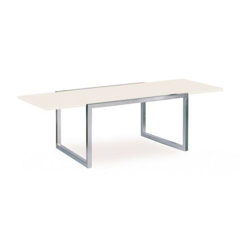 Table à allonge Ninix 270 en verre EP de Royal Botania, blanc