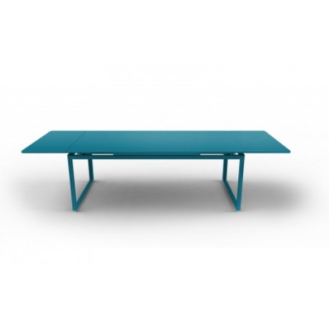 Table à allonges BIARRITZ de Fermob bleu turquoise