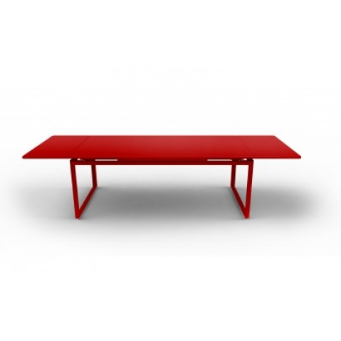 Table à allonges BIARRITZ de Fermob coquelicot