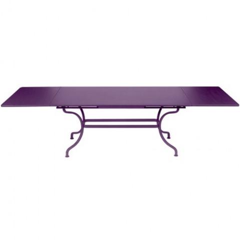 Table à allonges ROMANE de Fermob aubergine