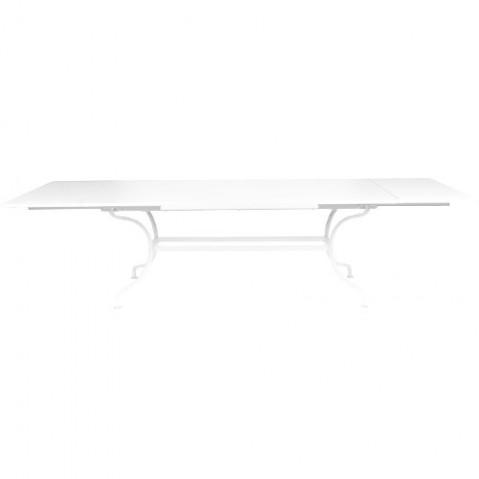 Table à allonges ROMANE de Fermob blanc coton
