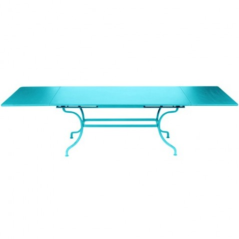 Table à allonges ROMANE de Fermob bleu turquoise