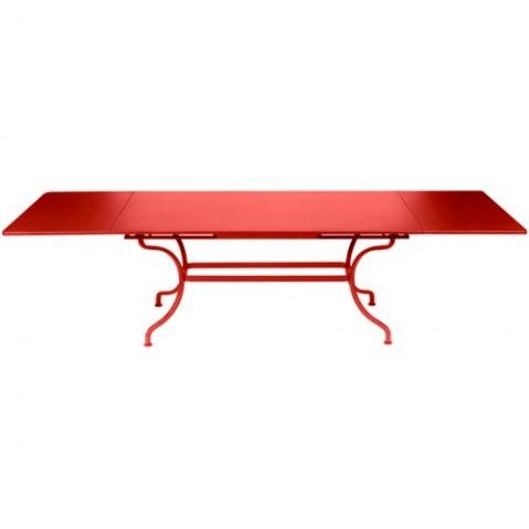 Table à allonges ROMANE de Fermob coquelicot