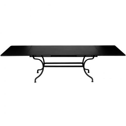 Table à allonges ROMANE de Fermob noir réglisse