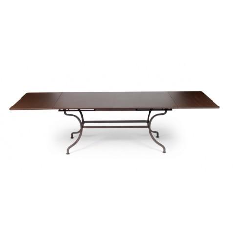 Table à allonges ROMANE Fermob rouille