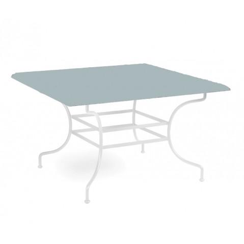 Table à manger CAPRI de Manutti, Bleu clair, 90X90X75