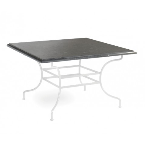 Table à manger CAPRI de Manutti, Noir-90X90X75