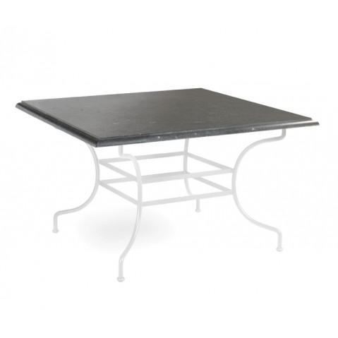 Table à manger CAPRI de Manutti, Noir, 105X105X75