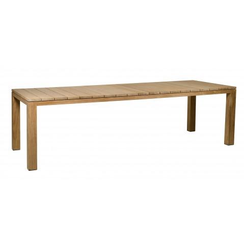 Table à manger KOS TEAK de Tribù, L.300 x P.110 x H.76