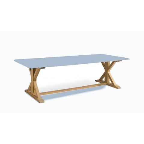Table à manger LIVORNO de Manutti, Bleu clair
