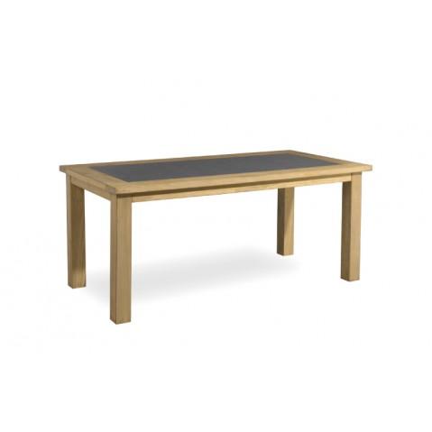 Table à manger MILANO de Manutti, Noir, 205x105x76