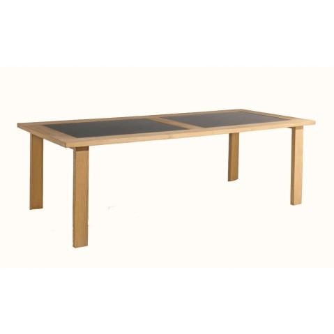 Table à manger MILANO de Manutti, Noir, 240x105x76