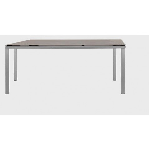 Table à manger MYSTRAL de Tribu, 210x98 cm, Gris clair