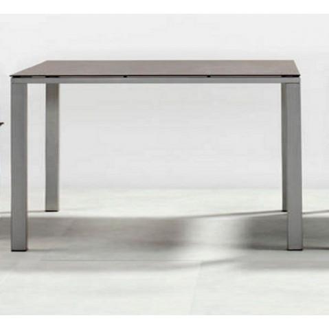 Table à manger MYSTRAL de Tribu, 68x68 cm, Gris clair