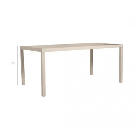 Table à manger PICASS de Tribu, L.98 X P.98 XH.75, Gris clair