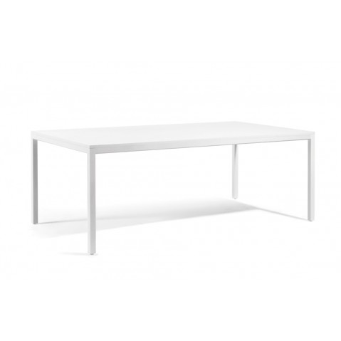 Table à manger QUARTO de Manutti, Blanc, 215x105x75