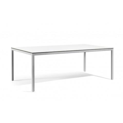 Table à manger QUARTO de Manutti, Sable, 130x75x75