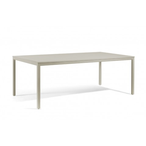 Table à manger QUARTO de Manutti, Taupe,130x75x75