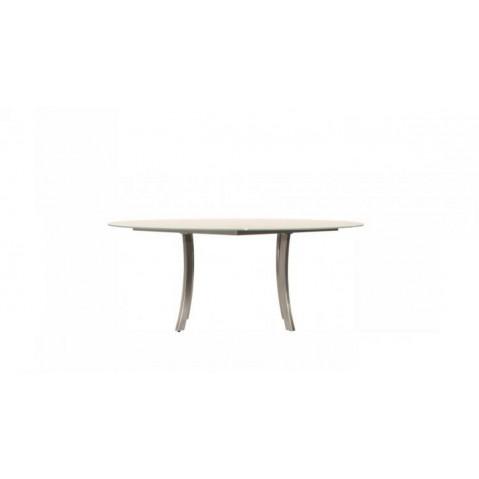 Table à manger ronde LUNA 140x75 de Joli, Blanc