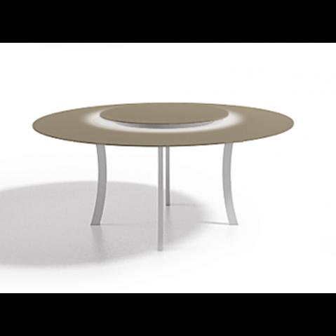 Table à manger ronde LUNA 140x75 de Joli, Taupe