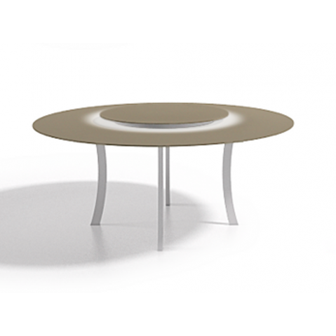 Table à manger ronde Luna,Taupe120x75