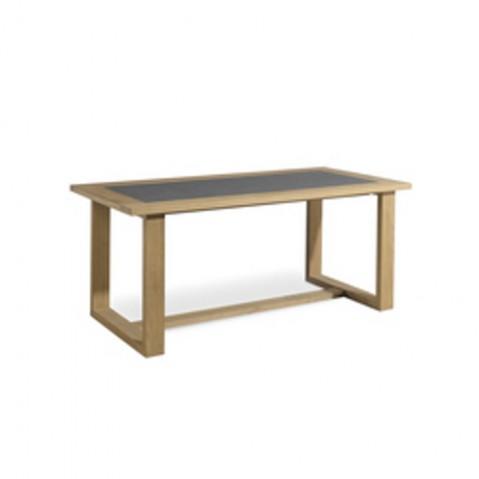 Table à manger SIENA de Manutti, Noir, 180x90x76
