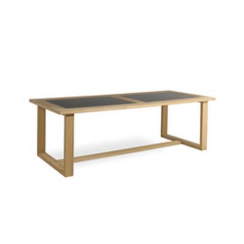 Table à manger SIENA de Manutti, Noir, 270x105x76