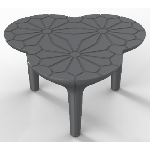 Table ALTESSE Qui est Paul Gris Anthracite