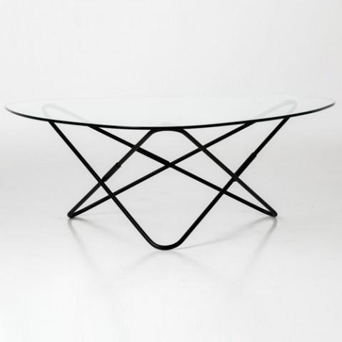 Table AO de Airborne, Socle thermolaqué noir, 2 coloris