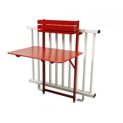 Table balcon BISTRO de Fermob, Coquelicot