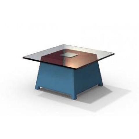 Table basse - RAFFY M10 - avec plateau 66x66 cm Qui est Paul Bleu