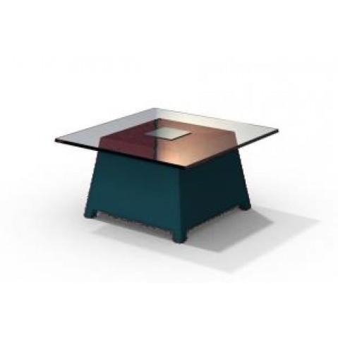 Table basse - RAFFY M10 - avec plateau 66x66 cm Qui est Paul Bleu Nuit