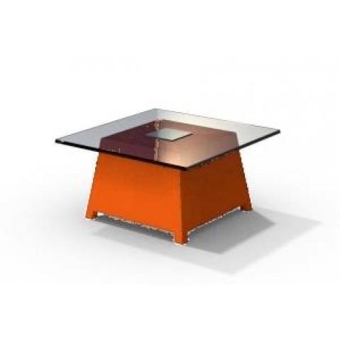 Table basse - RAFFY M10 - avec plateau 66x66 cm Qui est Paul Orange
