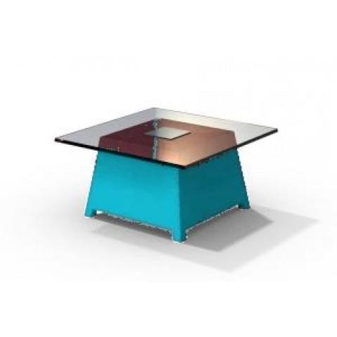 Table basse - RAFFY M10 - avec plateau 66x66 cm Qui est Paul Turquoise