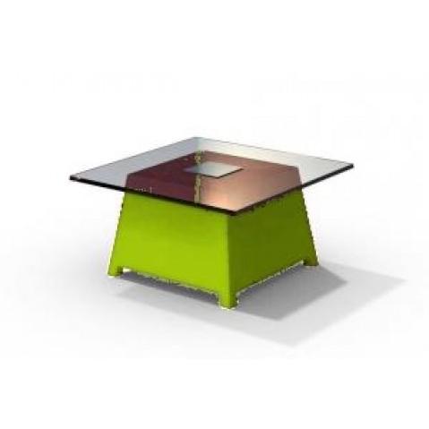 Table basse - RAFFY M10 - avec plateau 66x66 cm Qui est Paul Vert