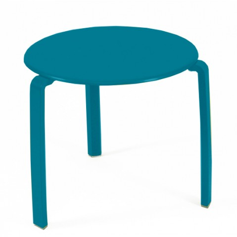 table basse aliz de fermob bleu turquoise. Black Bedroom Furniture Sets. Home Design Ideas
