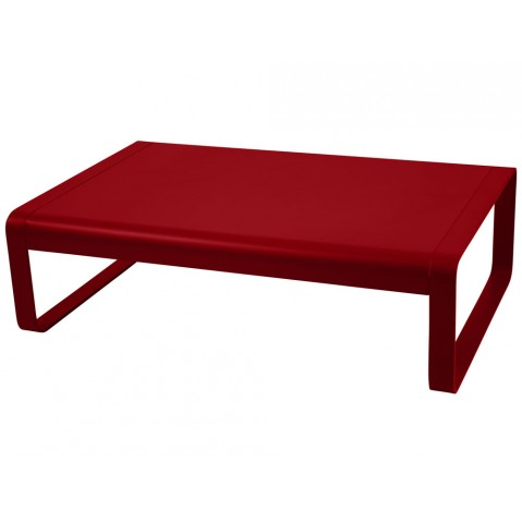 Table basse BELLEVIE de Fermob, Coquelicot
