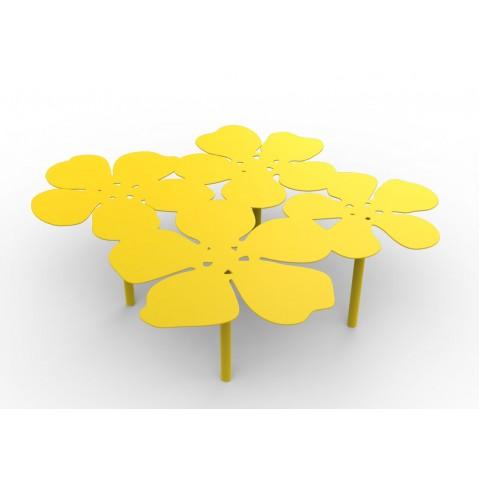 Table basse bouquet NOTUS de Matière Grise, Jaune