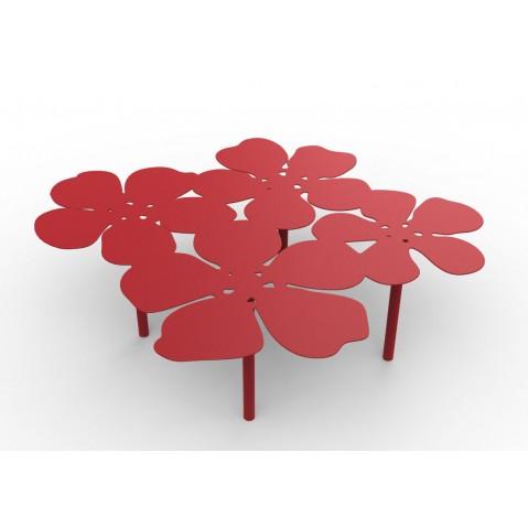 Table basse bouquet NOTUS de Matière Grise, Rouge
